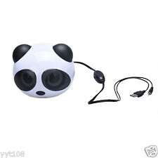 Panda USB Subwoofer Speaker Music Player for Computer Desktop PC