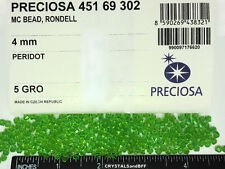 360 Preciosa Czech Crystal Bicone Beads 4mm Peridot, light green,partial package