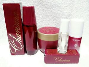 4pc Set Avon Charisma Cologne Spray, Deodorant, Rollette & Perfumed Cream