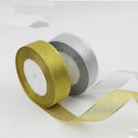 "Free Shipping Gold and silver 3/8""(10mm-50mm) yards craft Bows Satin Ribbon"