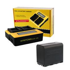 PATONA Profi Set Dual Ladegerät + Akku NP-F970 NP-F960 F750 6600mAh Li-ion ACCU