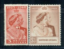 BRITISH GUIANA 244-45 SG322-23 MH 1948 KGVI Silver Wedding Issue set of 2 Cat$24
