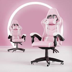 Hot Bürostuhl Gaming Schreibtischstuhl Drehstuhl Race Chair Sportsitz Gamer Pink