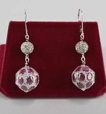 14 Carat White Gold Vintage Fine Earrings
