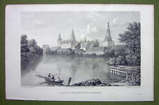 DENMARK Palace of Fredericksborg - 1820s Copper Engraving by Cpt. Batty