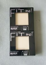2 Maybelline Fit Me Pressed Powder Set+Smooth 220 Natural Beige