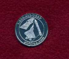"US AIR FORCE ""CROSS INTO THE BLUE"" MEDALLION Coin With F-22 ROCKET & SATELLITE"