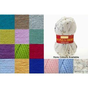 Sirdar Hayfield Bonus Chunky Yarn 100g Ball Knitting Crochet Extra Value Wool