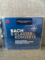 CHAILLY,R/RAMIN BAHRAMI - BACH: 5 KLAVIERKONZERTE - CD - NEW Sealed. Decca,