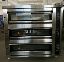 Wuxi N 803s Gas Steam 3 Deck Oven Great Deal