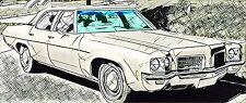 Chevrolet Impala Caprice 2/ 4D HardTop Coupe 1971 – 1976 Frontscheibe Pare-Brise