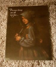 Vintage 1981 Holly Hobbie American Greeting Card Precious things are all too few
