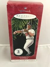 Hallmark Keepsake Ornament & Baseball Card 1998 Cal Ripken Jr At the Ballpark