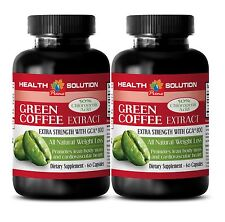 Organic Detox - Anti Aging Products GREEN COFFEE EXTRACT WITH GCA® 800 2 Bottles