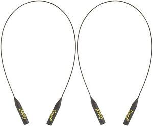 Cablz Original Eyewear Retainer Black Black Cable 14 Inch - 2 Pack