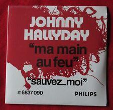 Johnny Hallyday, ma main au feu / sauvez moi - (pochette juke box), CD single