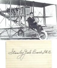 Stanley Yale Beach Early Aviation Pioneer & Promoter Autograph Card ''Rare''