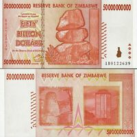 ZIMBABWE 50 (BILLION) 50,000,000,000 DOLLARS 2008 P-87 NEW- UNC
