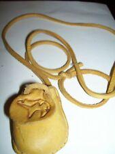 MANIFESTATION CRYSTAL MEDICINE BAG Pocket Size  Leather Pouch Reiki Stones RARE