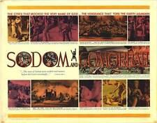 SODOM AND GOMORRAH Movie POSTER 22x28 Half Sheet Stewart Granger Stanley Baker