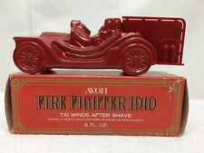 Vintage Avon Fire Fighter 1910 Decanter Tai Winds 6 fl oz After Shave Bottle