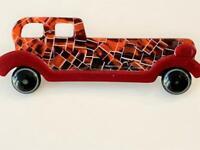 Lea Stein Paris Vtg Limousine Car Auto Mosaic Brooch Pin Signed Plastic Bakelite