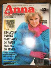 Anna Burda Ouvrages Manuels N°12 1984 Idée pour Noël Cours Poupées Patron Tricot