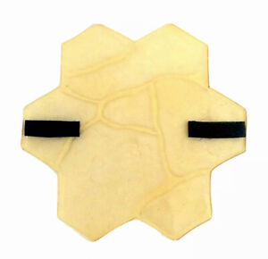 POLYURETHANE RUBBER Stamp Stone Flower for Printing on CONCRETE Imprint mat