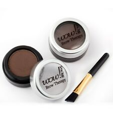 WOW BROWS Semi Permanent Eyebrow Powder Colour DARK BROWN With BRUSH