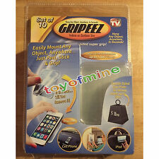 Set of 10 Gripeez Removable Double Sided Super Grip Pads Mount Holds up to 5 lbs