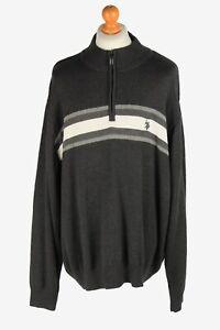 U.S Polo ASSN Half Zip Neck Jumper Pullover Vintage Size XXXL Dark Grey - IL2528