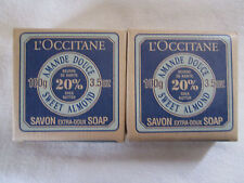 2 L'Occitane ~SWEET ALMOND~ Extra Gentle Soaps with20% Shea Butter 100g/3.5 oz.