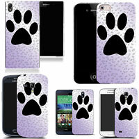 hard durable case cover for most mobile phones - large paw print