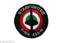 Patch Toppa Starfighter F-104 ASA-M Aeronautica Militare Italiana Stemma Ricamo