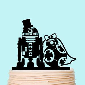 Star Wars Love Silhouette Wedding Cake Topper Acrylic Custom Creative Gift
