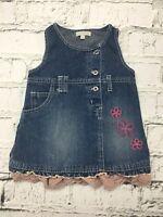 Baby Girl's Rocha Little Rocha Dress Denim Sleeveless Cotton 6-9 Months