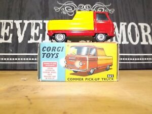 Corgi Toys 465 COMMER PICK UP TRUCK  Original CAR AND BOX  MINT