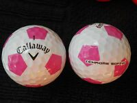 "10 CALLAWAY ""CHROME SOFT"" - with PINK TRUVIS - ""PEARL/A"" Grades."