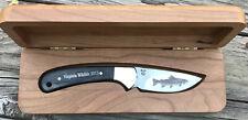 BUCK 113 SKINNER  KNIFE VIRGINIA WILDLIFE 2013 TROUT ON 420HC BLADE CUSTOM SHOP