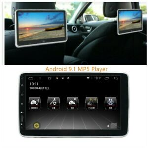 """1x 10.1"""" 1080P Car Rear Seat Screen Monitor Android 9.1 Headrest MP5 Player 12V"""