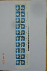 East Germany, 1982 Air Stamps SGE2465, Marginal Block of 20 (with Controls)