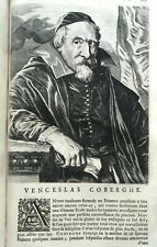 1682 INCISIONE RITRATTO VENCESLAS COBERGHE