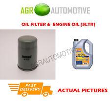 PETROL OIL FILTER + LL 5W30 ENGINE OIL FOR OPEL ZAFIRA 1.6 105 BHP 2005-09