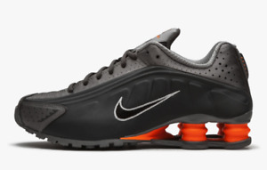 Nike Shox R4 Anthracite Total Orange 104265-054 Running Shoes Men's Multi Size