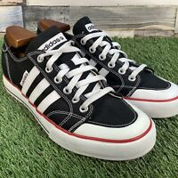 UK10 Adidas 'Clemente Stripe Lo' Canvas Low Top Trainers - Retro Skate Style