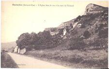 CPA 95 - HAUTE ISLE (Seine et OIse) - Eglise dans le roc et la route de Vétheuil