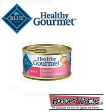 Blue Buffalo Healthy Gourmet Wet Canned Cat Food Adult Indoor Salmon Pate 3oz