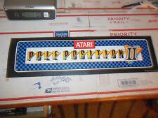 "POLE POSITION 2 STICKER   ORIGINAL 23 1/2- 6 3/4"" arcade game sign marquee  cF43"