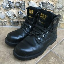 1e3a04538dd64 CAT Work Boots Mens Size 10 UK 44 EU Black Leather Wide Width CATERPILLAR
