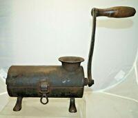 Antique 1860s - 1890s Era Cast Iron Hand Crank Tobacco Grinder Tool